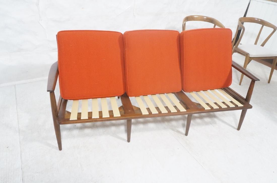 Danish Modern style Teak Sofa Couch. Red KNOLL Bo - 7