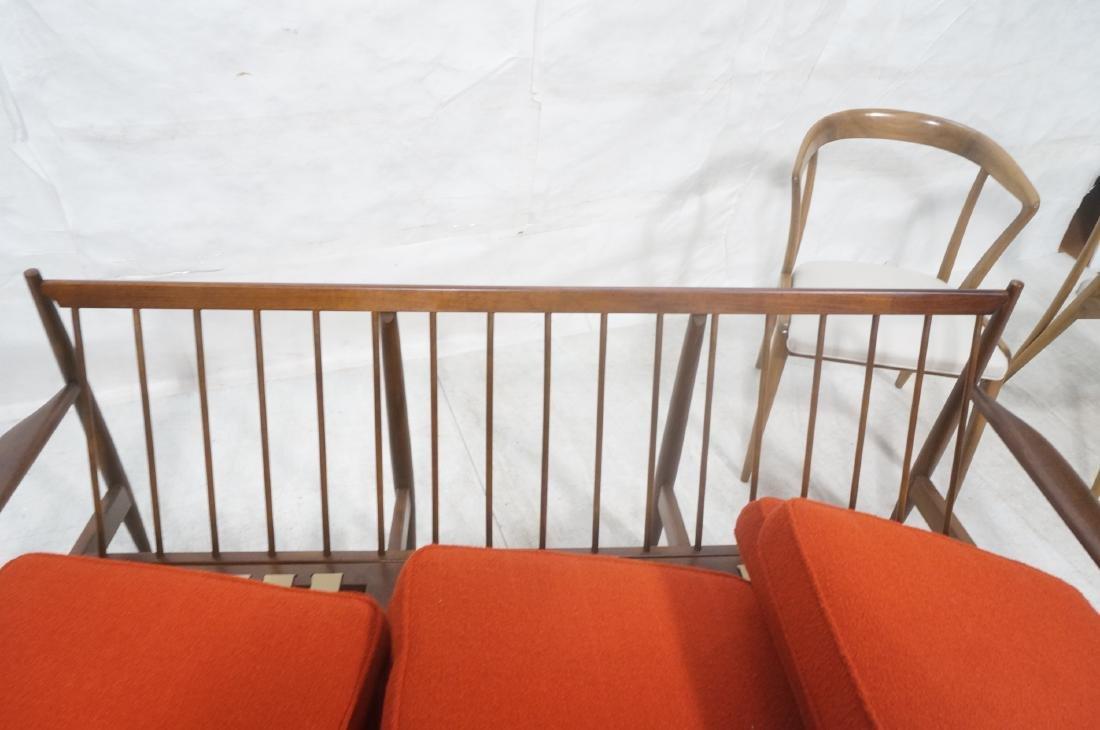 Danish Modern style Teak Sofa Couch. Red KNOLL Bo - 8