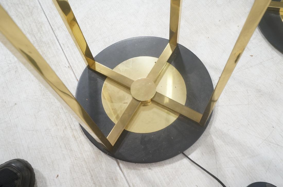 Pr Springer Style Brass Frame Column Floor Lamps. - 8