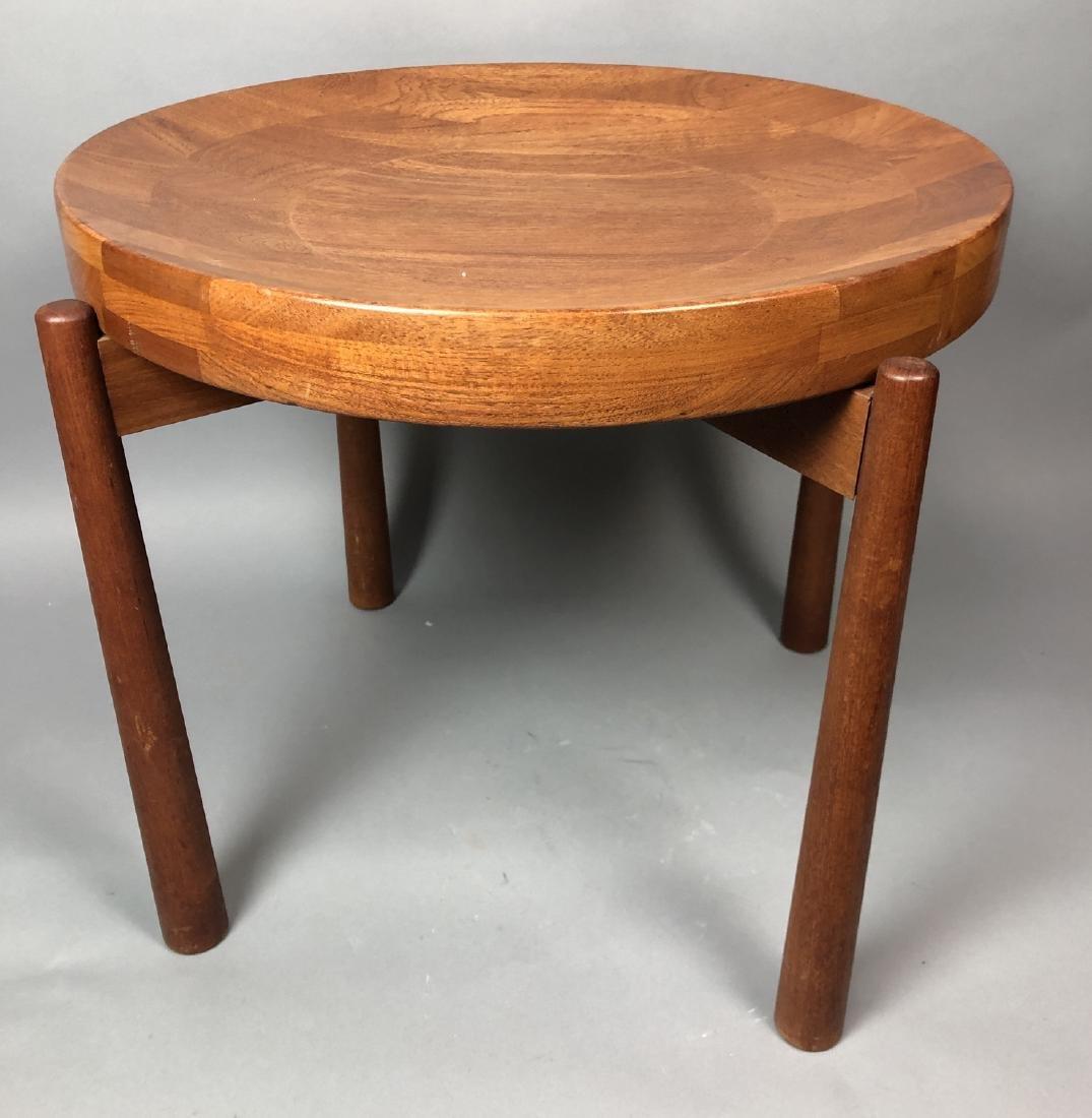 Great JENS QUISTGAARD Danish Modern Teak Side Table Rev