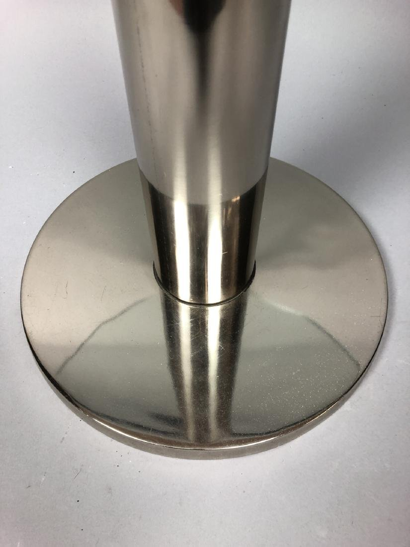 Small Round Glass & Chrome Side Table. Modernist - 4