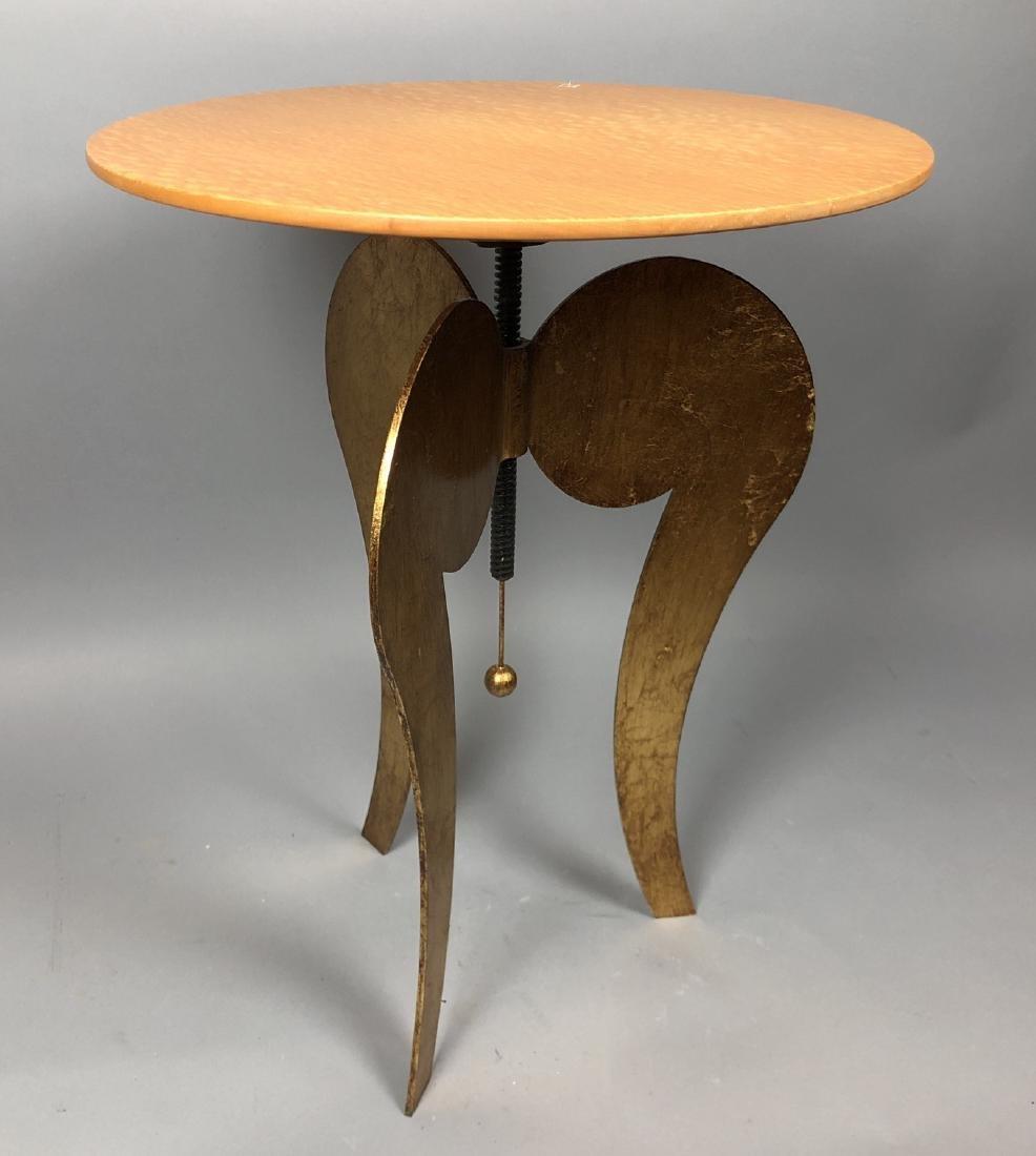 Satinwood Small Gilt Metal Decorator Side Table.