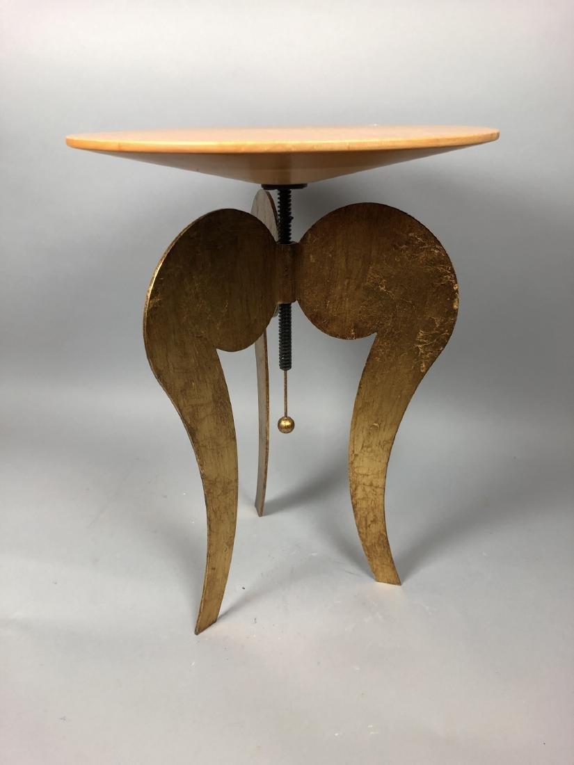 Satinwood Small Gilt Metal Decorator Side Table. - 2