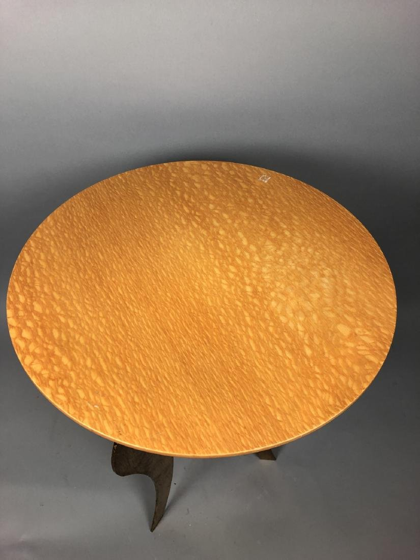 Satinwood Small Gilt Metal Decorator Side Table. - 3
