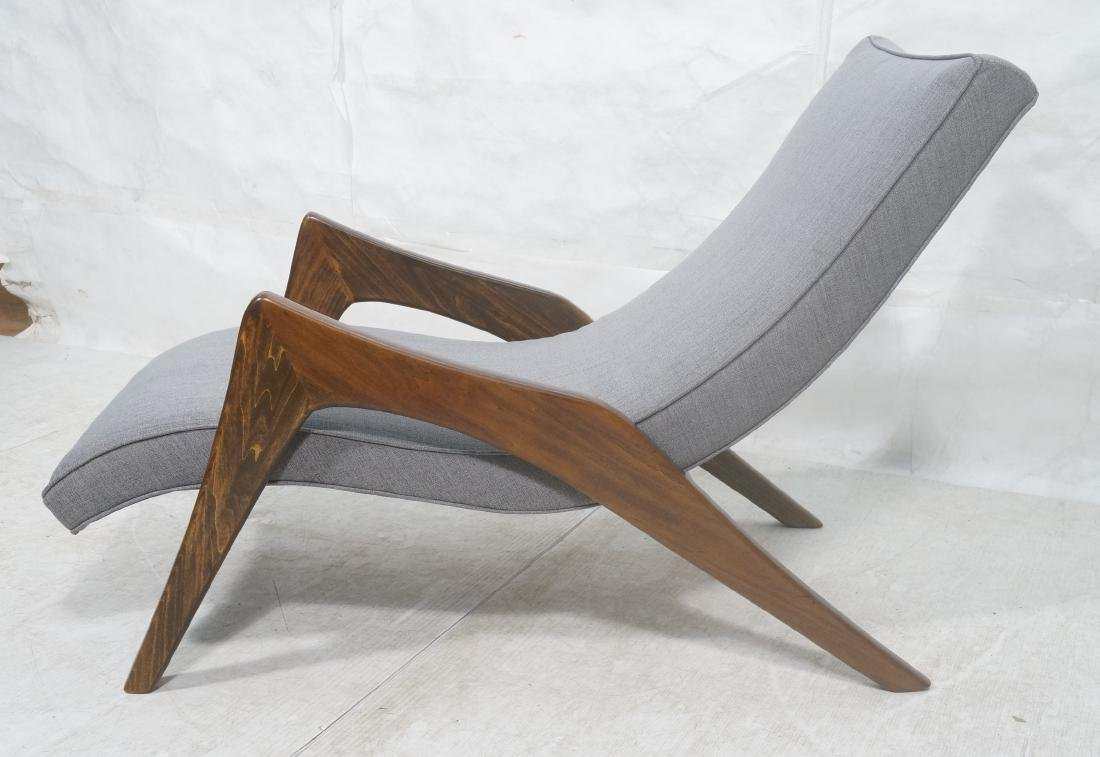 ADRIAN PEARSALL Walnut Chaise Lounge Chair. Elega - 2