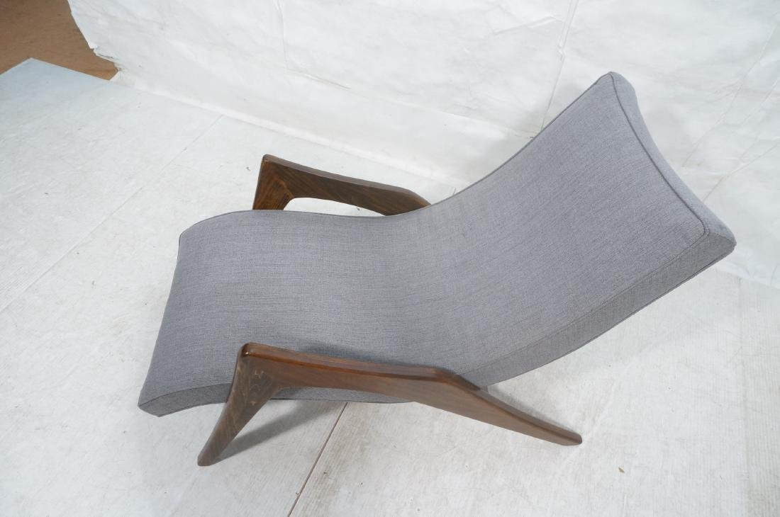 ADRIAN PEARSALL Walnut Chaise Lounge Chair. Elega - 3
