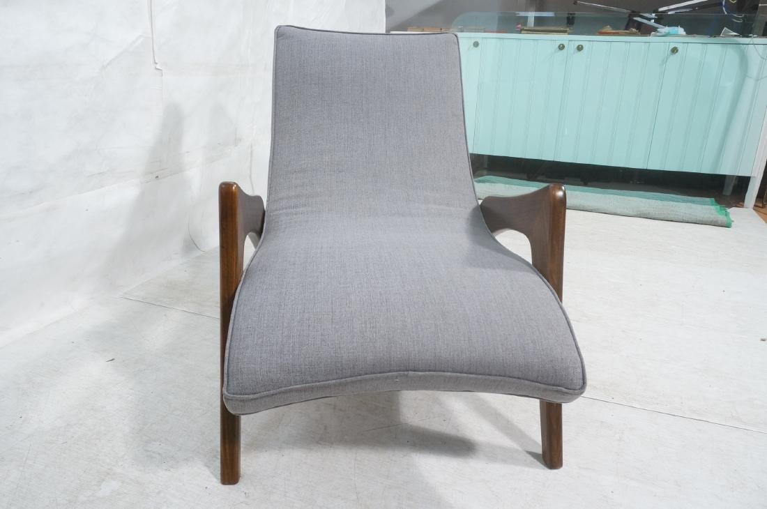ADRIAN PEARSALL Walnut Chaise Lounge Chair. Elega - 4