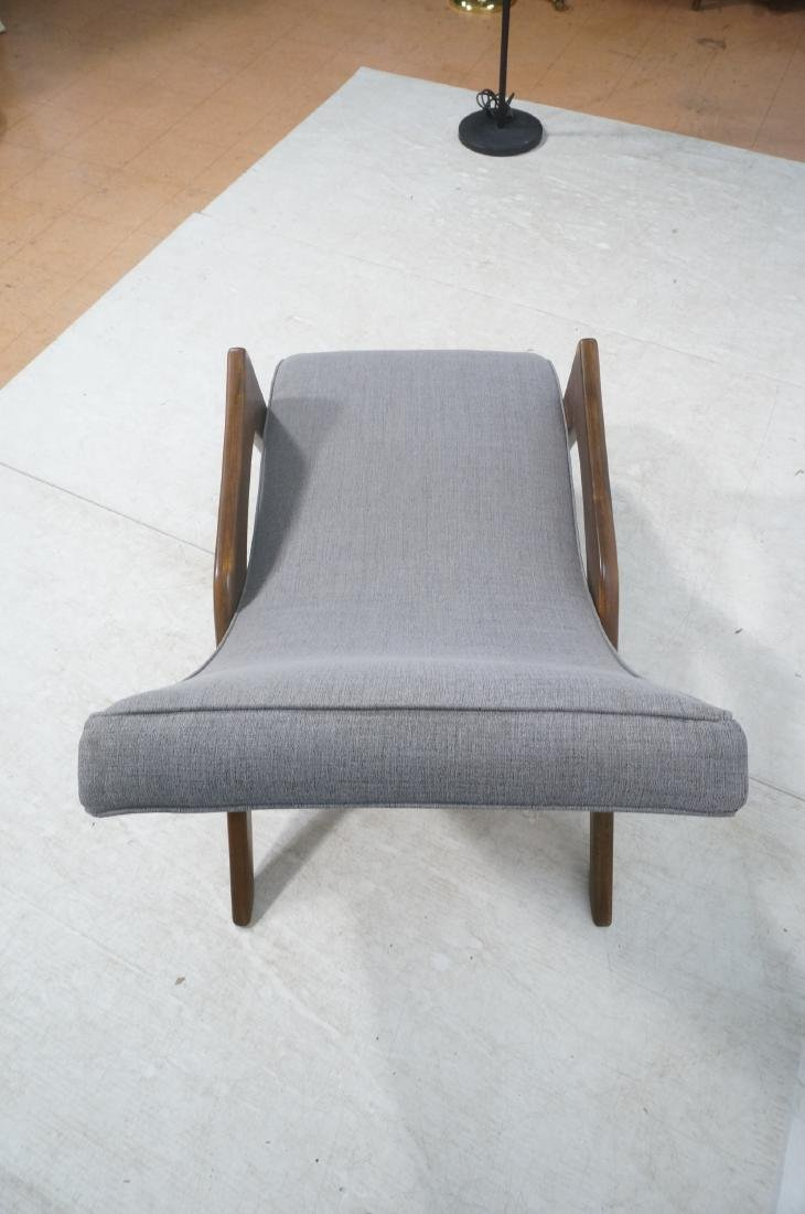ADRIAN PEARSALL Walnut Chaise Lounge Chair. Elega - 7