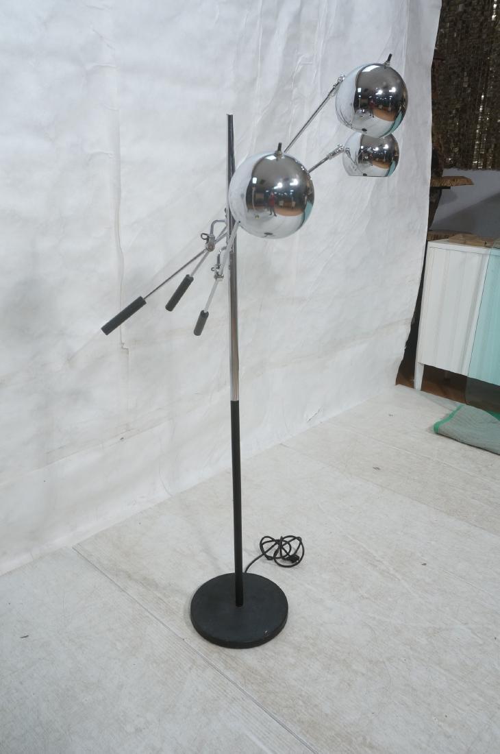SONNEMAN Modernist 3 Chrome Arm Floor Lamp. Black - 2