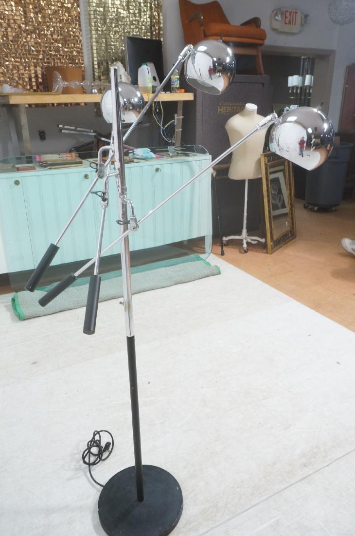 SONNEMAN Modernist 3 Chrome Arm Floor Lamp. Black - 3
