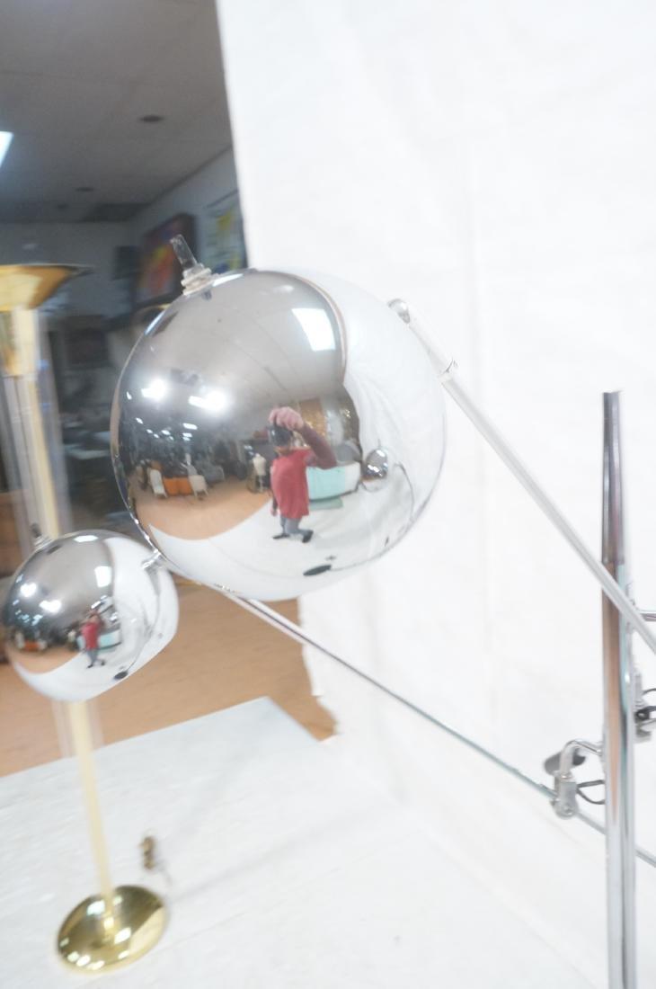 SONNEMAN Modernist 3 Chrome Arm Floor Lamp. Black - 8