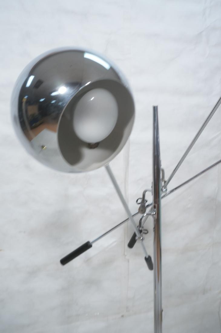 SONNEMAN Modernist 3 Chrome Arm Floor Lamp. Black - 9