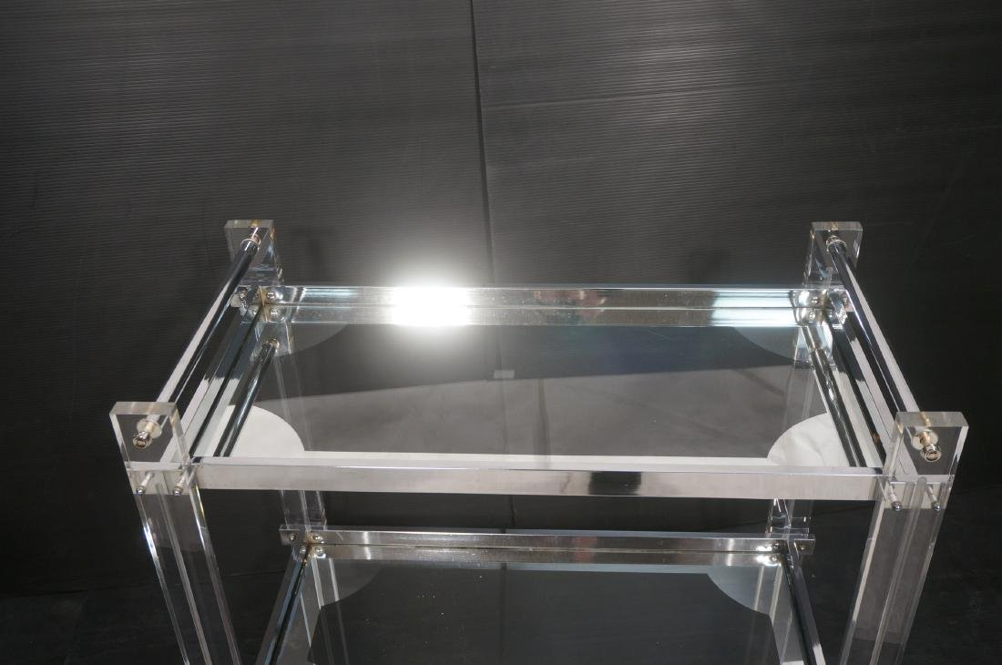 Modernist Lucite & Chrome Serving Bar Tea Cart. R - 4