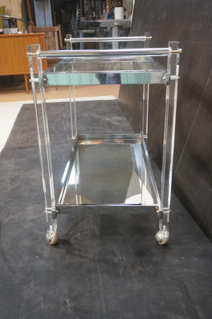 Modernist Lucite & Chrome Serving Bar Tea Cart. R - 5