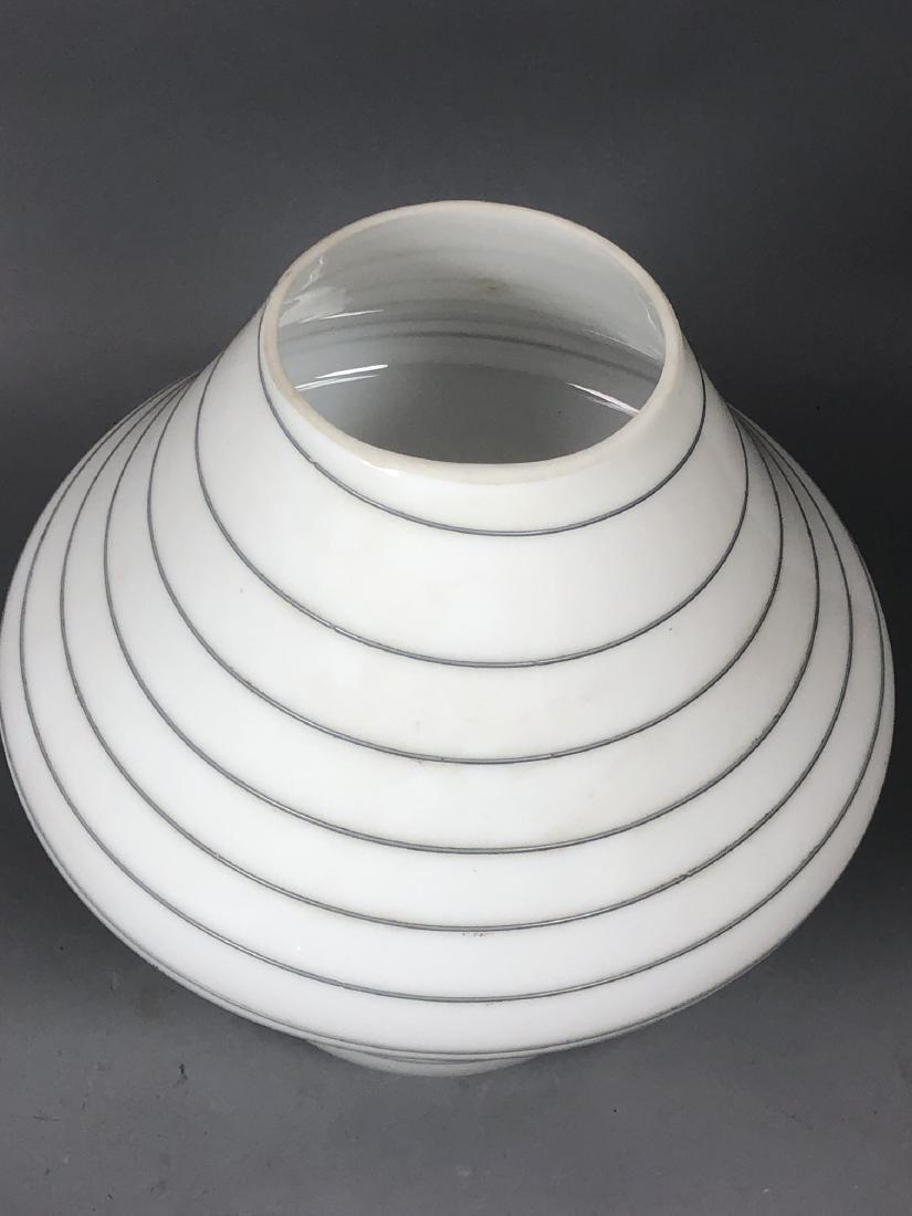 Murano Art Glass Mushroom Form Table Lamp. White - 3