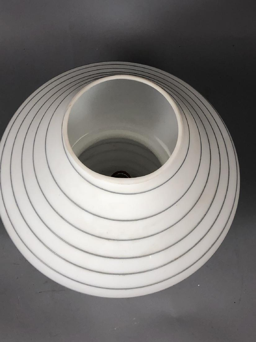 Murano Art Glass Mushroom Form Table Lamp. White - 4