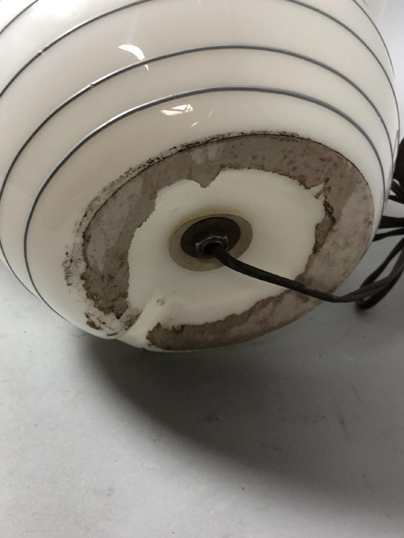 Murano Art Glass Mushroom Form Table Lamp. White - 6