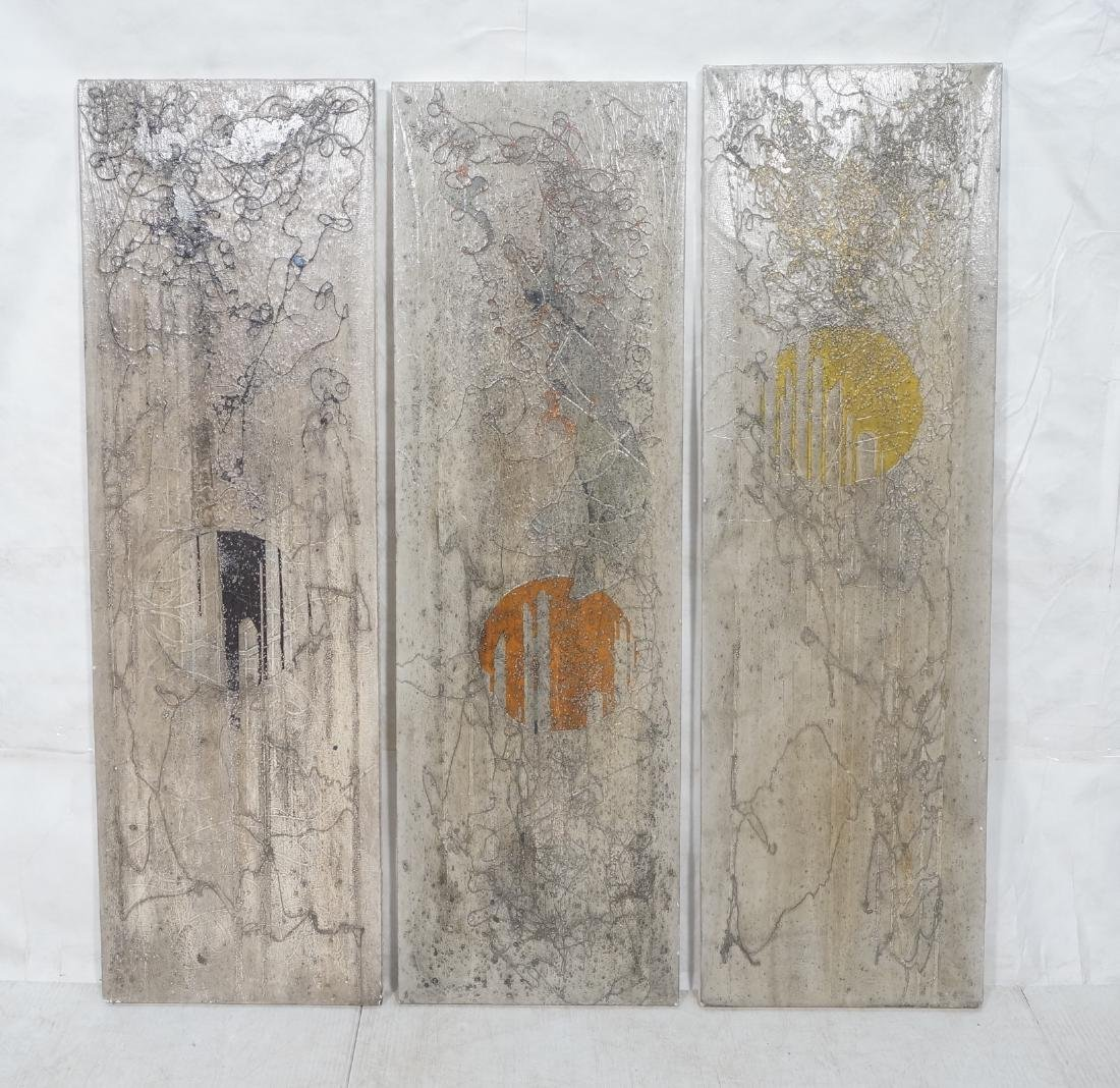 3 ANTONIO PURI - DHARMA 7-8-9 Modernist Paintings