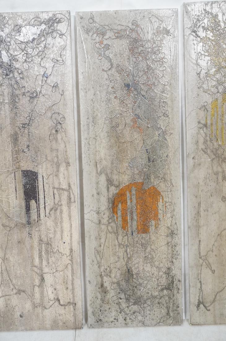 3 ANTONIO PURI - DHARMA 7-8-9 Modernist Paintings - 3