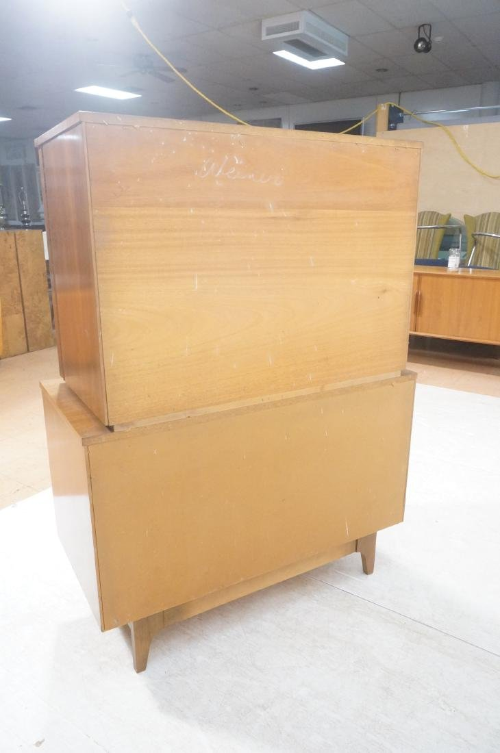 YOUNG American Modern Walnut Tall Chest Dresser. - 4