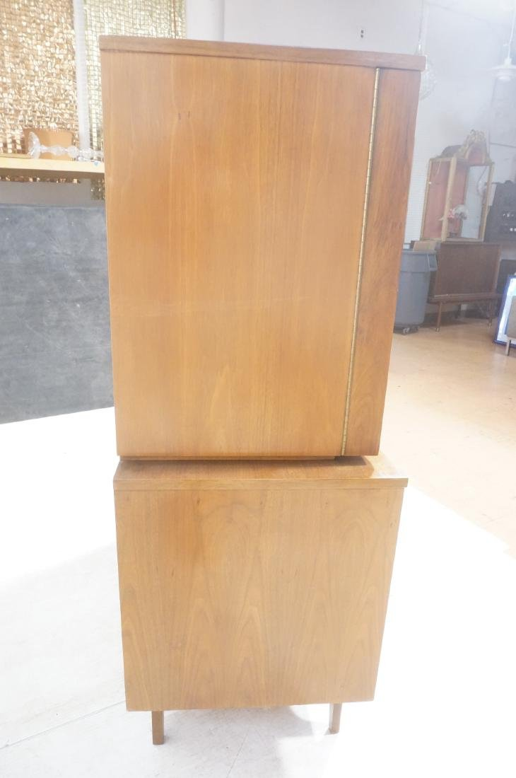 YOUNG American Modern Walnut Tall Chest Dresser. - 5