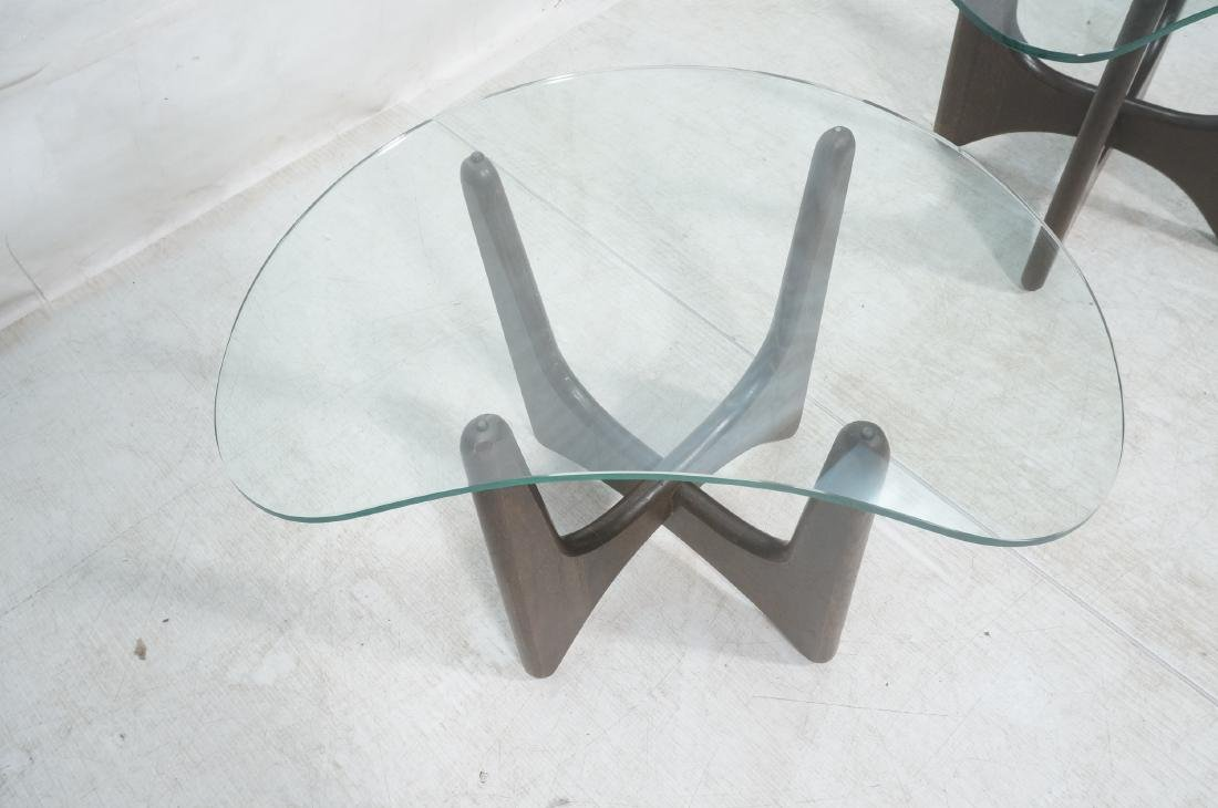 Pr ADRIAN PEARSALL Modernist Glass Top End Tables - 4