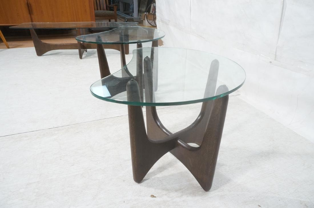 Pr ADRIAN PEARSALL Modernist Glass Top End Tables - 9