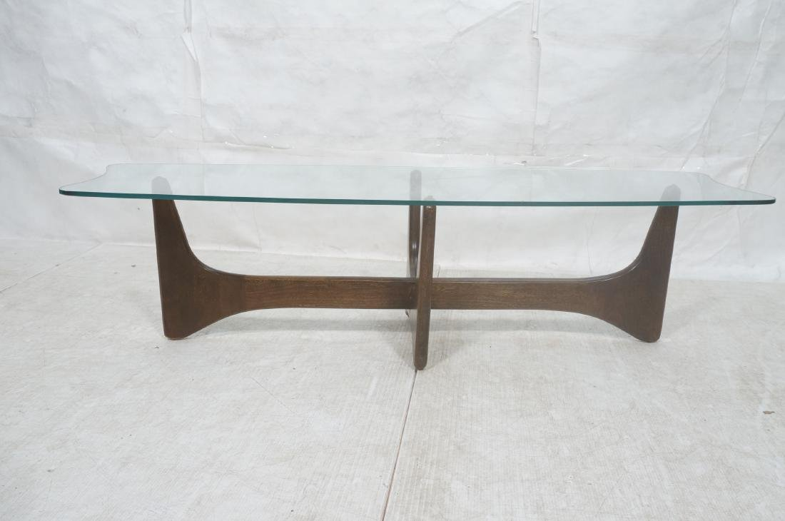ADRIAN PEARSALL Modernist Glass Top Coffee Table. - 2
