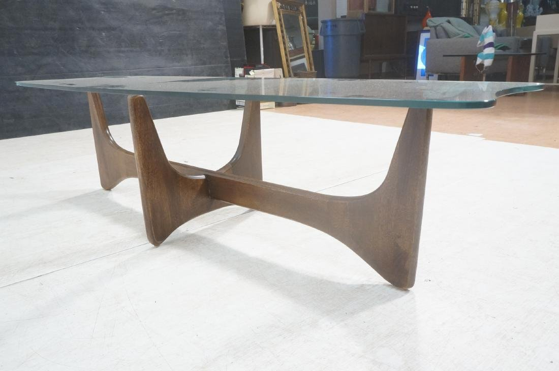 ADRIAN PEARSALL Modernist Glass Top Coffee Table. - 5
