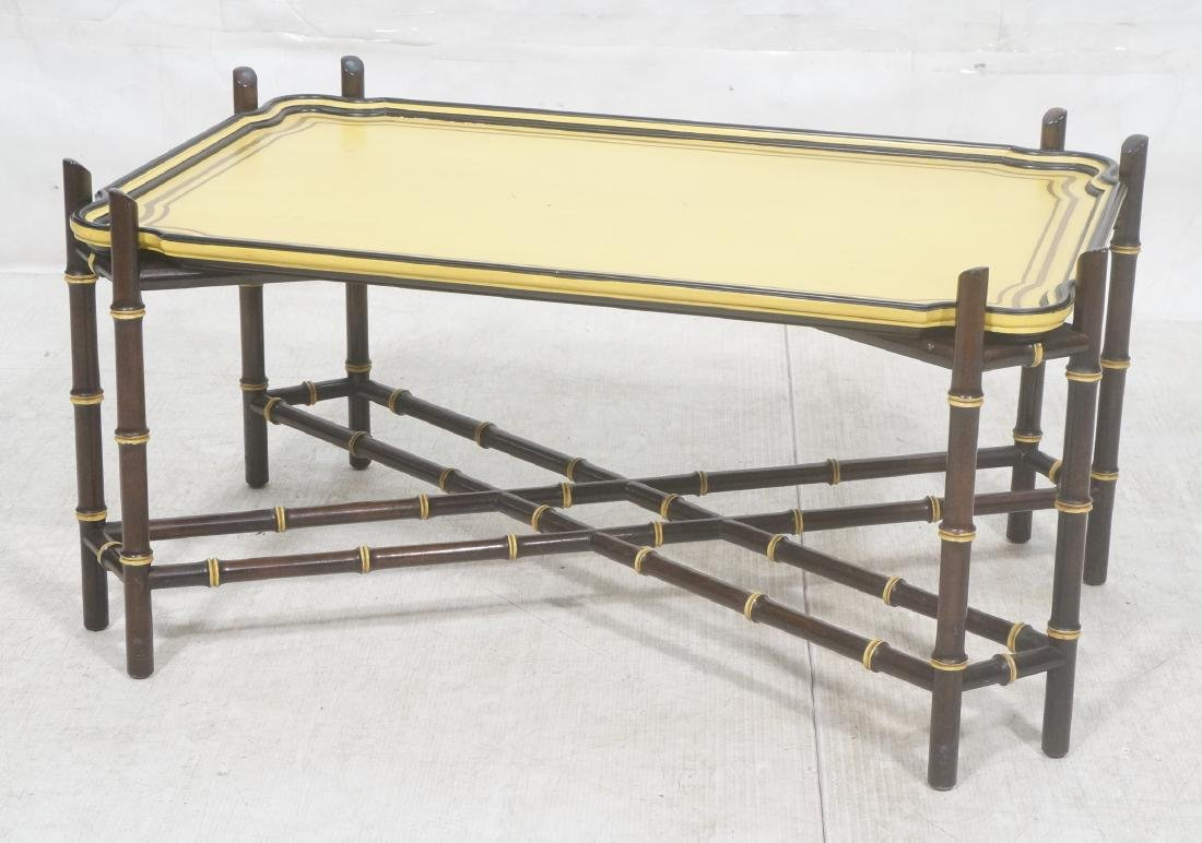 Decorator Modernist Faux Bamboo Tray Coffee Table