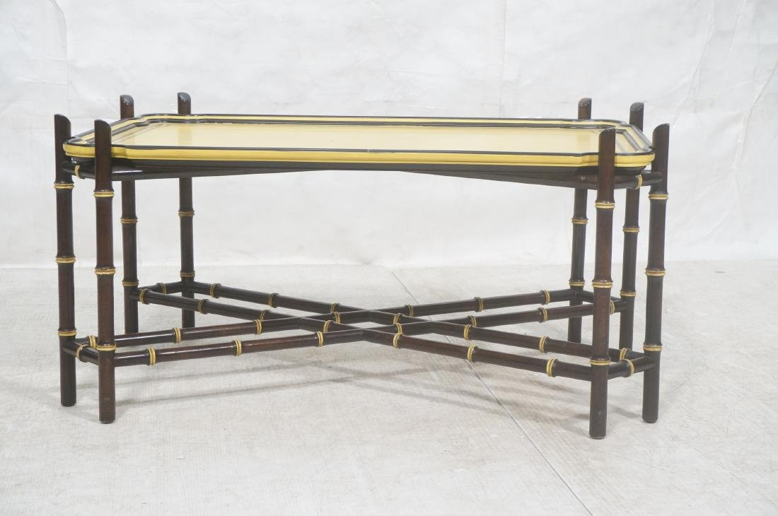 Decorator Modernist Faux Bamboo Tray Coffee Table - 2