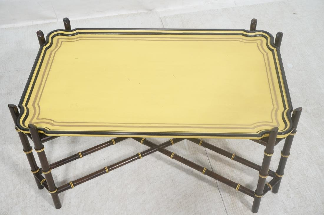 Decorator Modernist Faux Bamboo Tray Coffee Table - 3