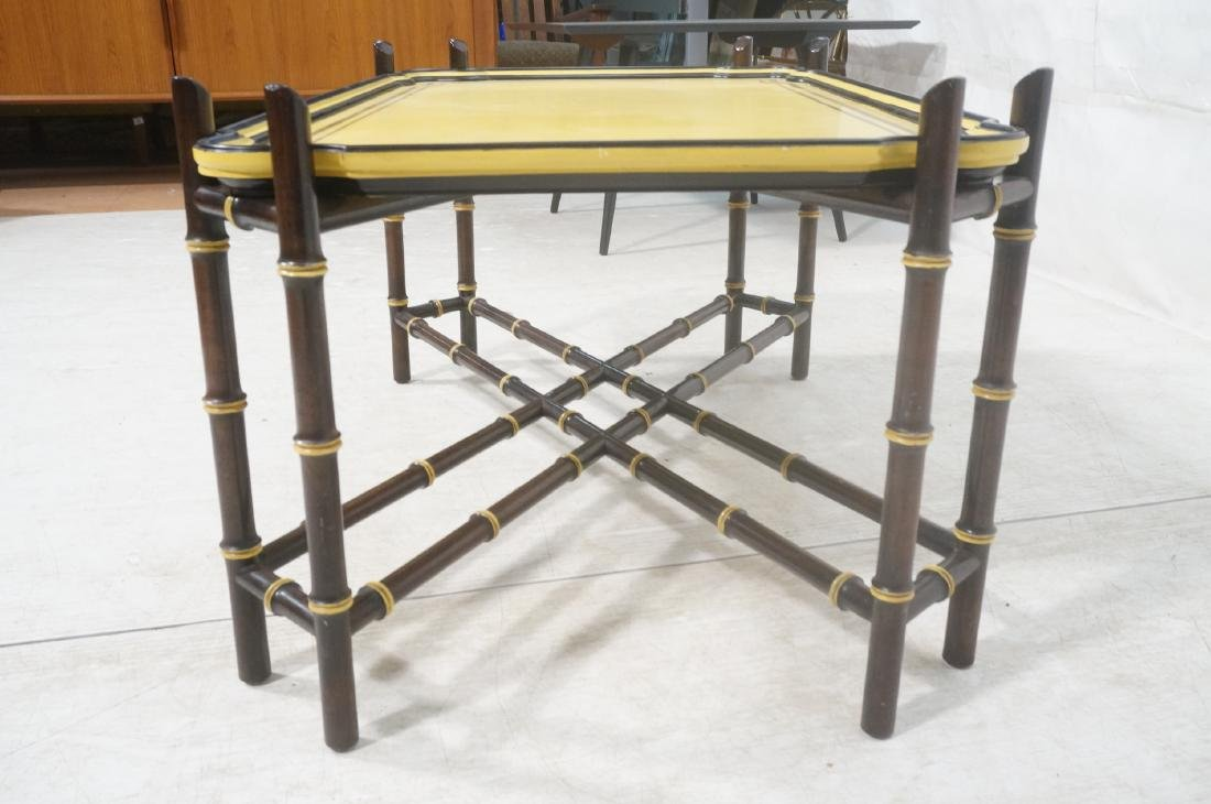 Decorator Modernist Faux Bamboo Tray Coffee Table - 4
