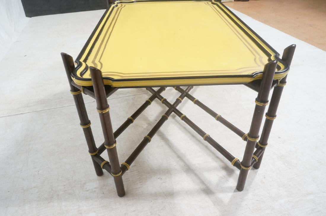 Decorator Modernist Faux Bamboo Tray Coffee Table - 6