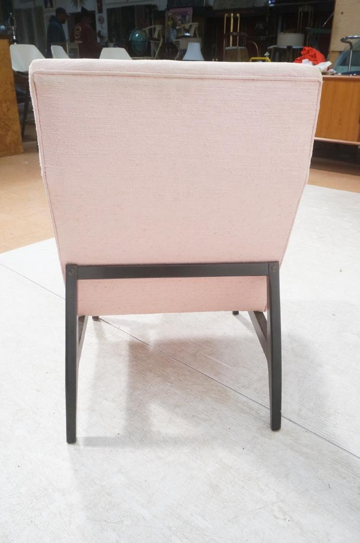 Jens Risom Ebonized Modernist Lounge Chair. Pink - 4