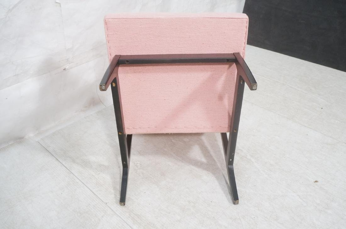 Jens Risom Ebonized Modernist Lounge Chair. Pink - 9