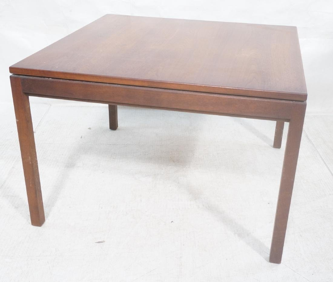 American Modern Walnut Square Cocktail Table. Mod
