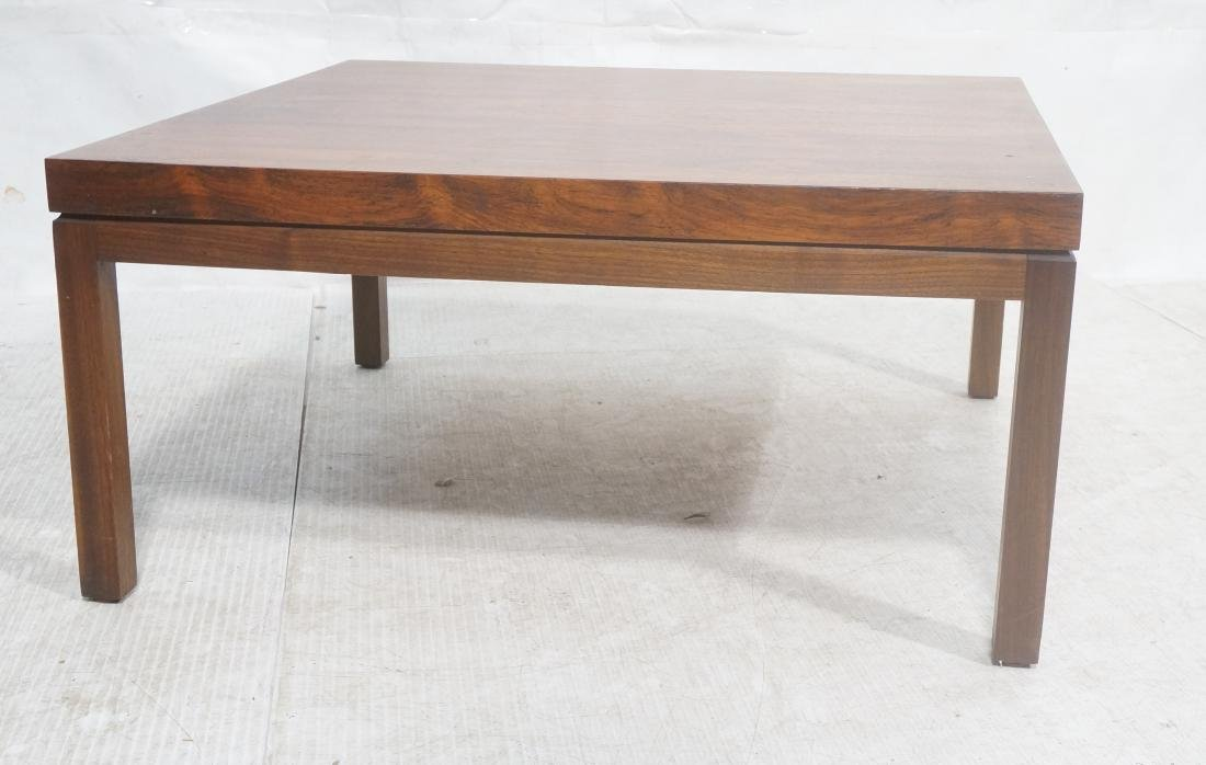 MILO BAUGHMAN Rosewood Modern Square Coffee Table