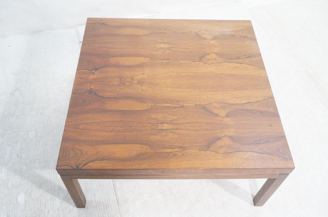MILO BAUGHMAN Rosewood Modern Square Coffee Table - 3
