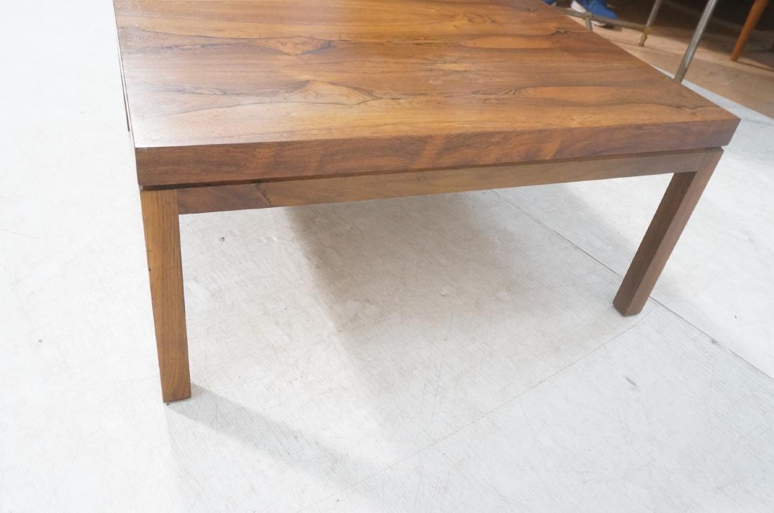 MILO BAUGHMAN Rosewood Modern Square Coffee Table - 5