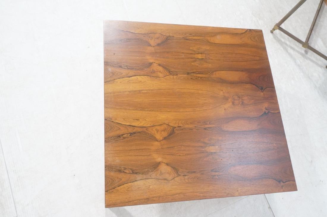 MILO BAUGHMAN Rosewood Modern Square Coffee Table - 6
