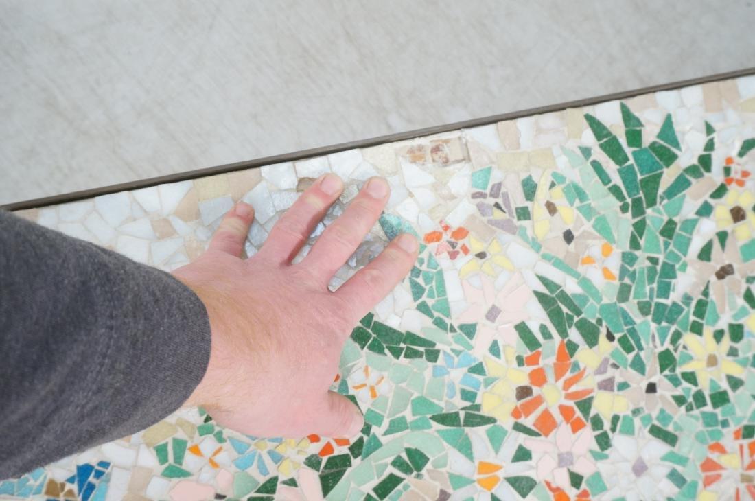 Modernist Mosaic Top Coffee Table. Brass Legs. Fl - 8