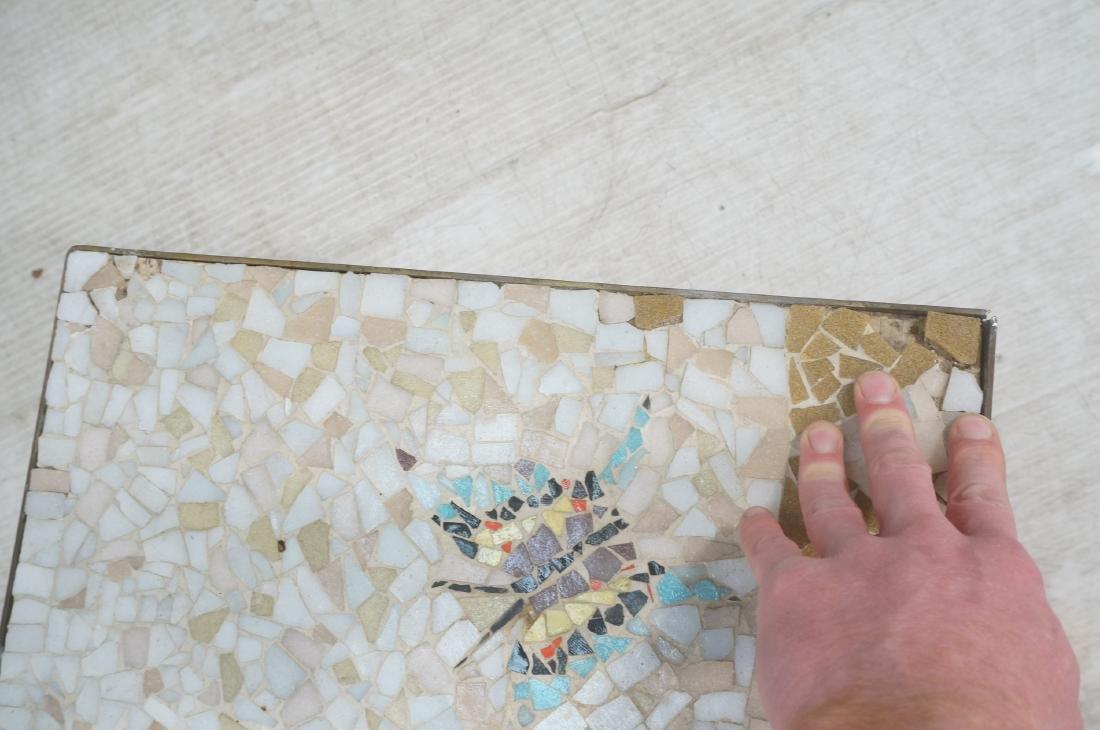 Modernist Mosaic Top Coffee Table. Brass Legs. Fl - 9