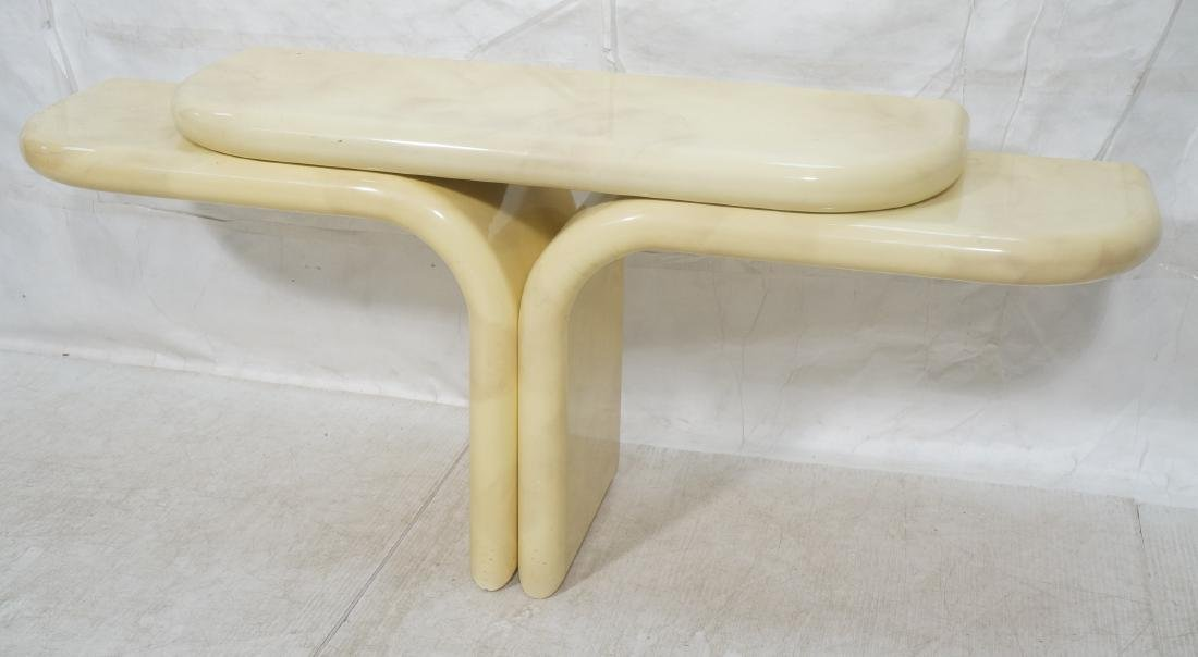 KARL SPRINGER style Lacquered Hall Console Table.