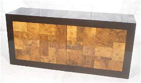 PAUL EVANS Burl Wood Credenza. Directional. Brown
