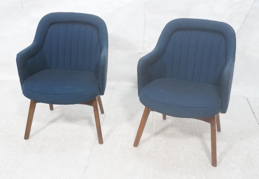 Pr Walnut American Modern Lounge Chairs. Pearsall