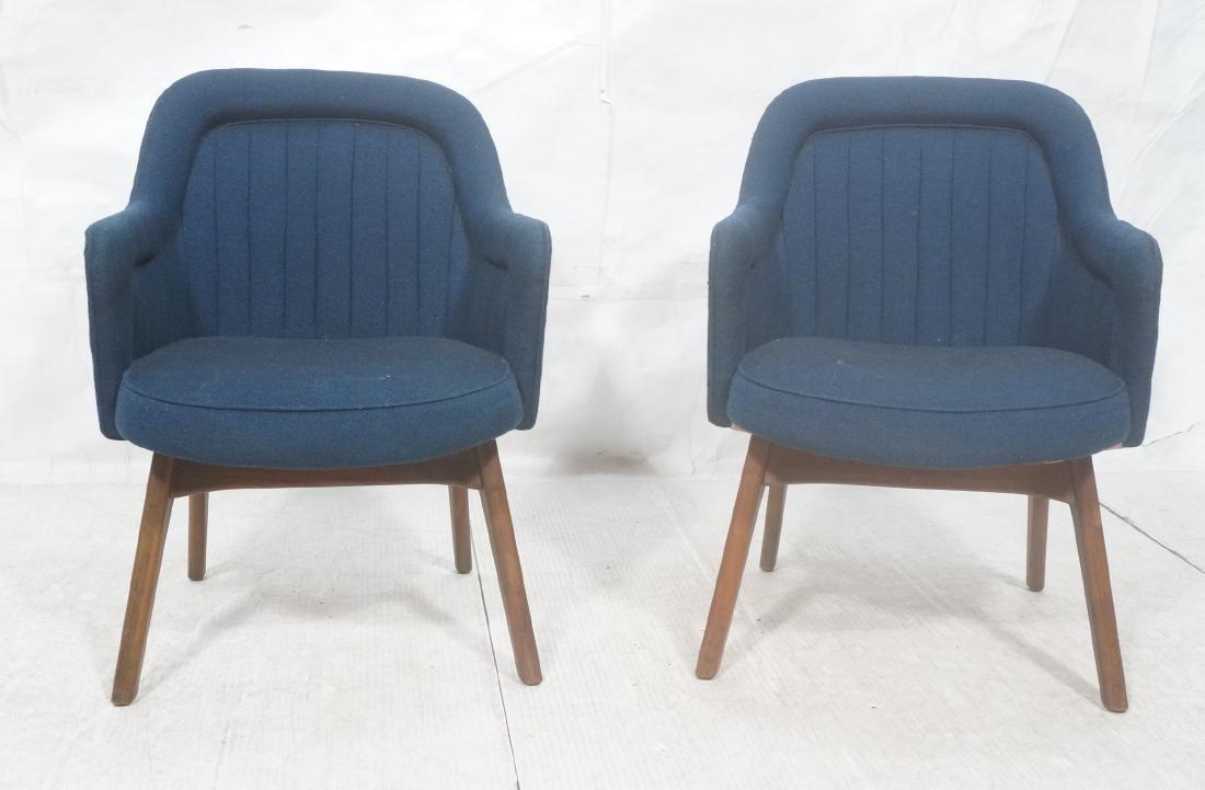 Pr Walnut American Modern Lounge Chairs. Pearsall - 2