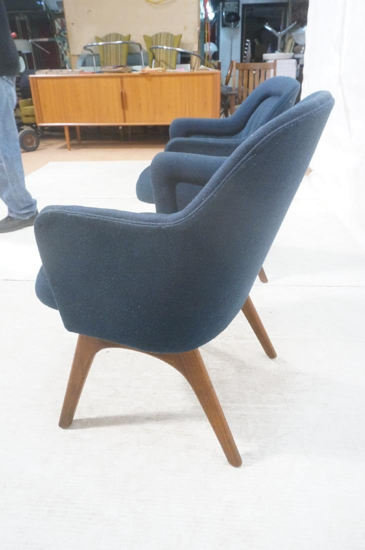 Pr Walnut American Modern Lounge Chairs. Pearsall - 7