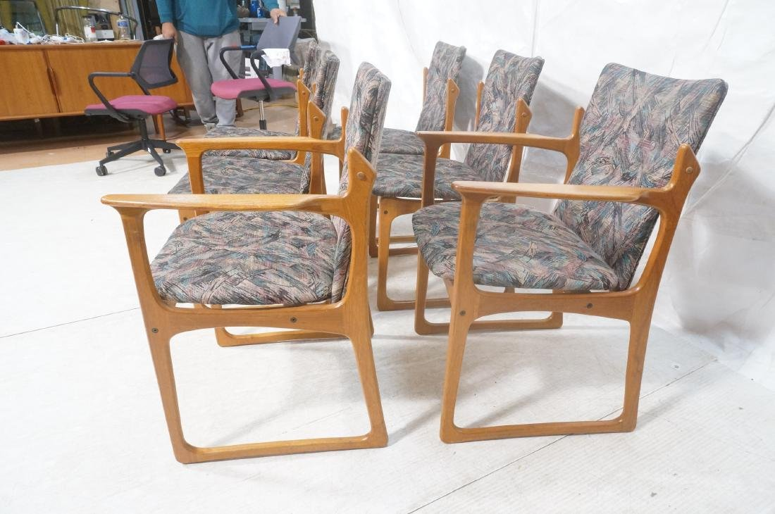 6 Danish Teak Dining Chairs. 2 arm chairs. Tall t - 4