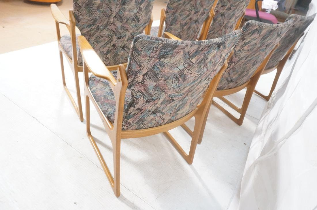 6 Danish Teak Dining Chairs. 2 arm chairs. Tall t - 5
